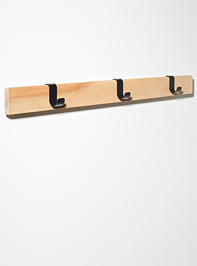 Birch wall coat rack