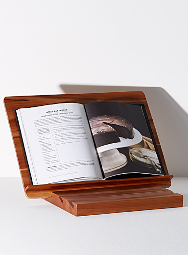 Cherry table book stand