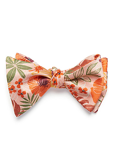 Floral panorama bow tie