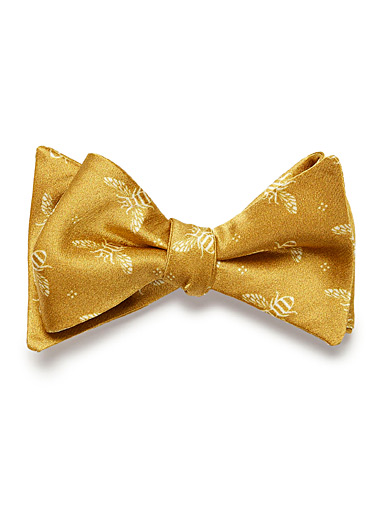 Summer bee bow tie