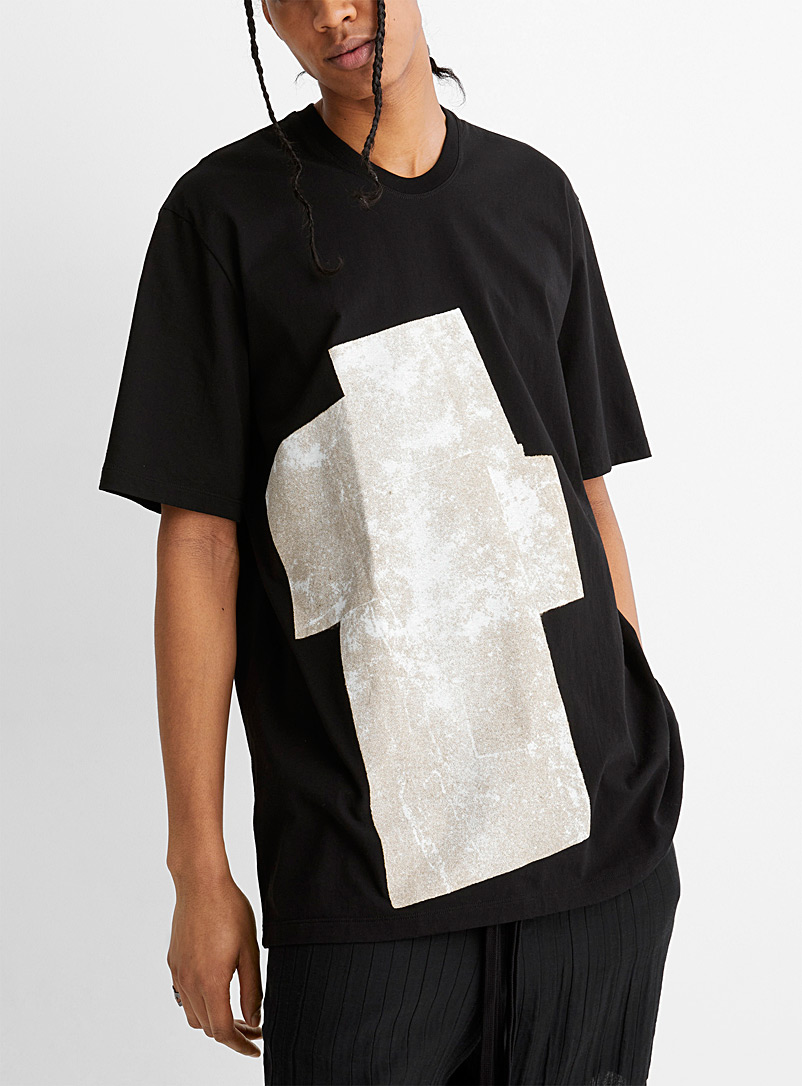 Julius Black Abstract collage print tee for men