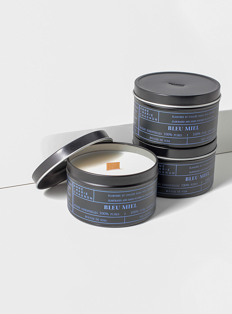 Anne-Marie Chagnon Blue Essential oil scented candles Set of 3