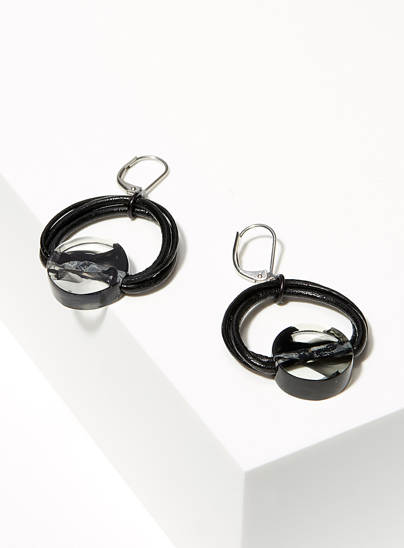 Anne-Marie Chagnon Black Neo earrings
