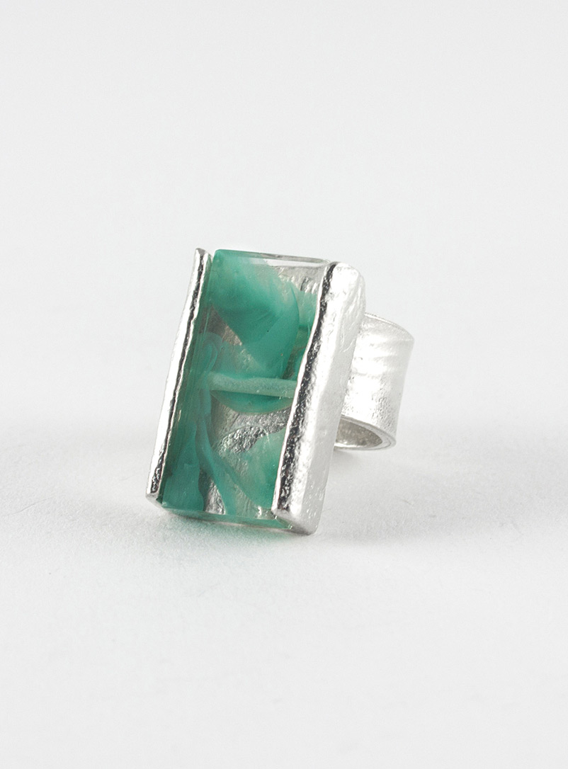 Prudence ring - Anne-Marie Chagnon - Teal