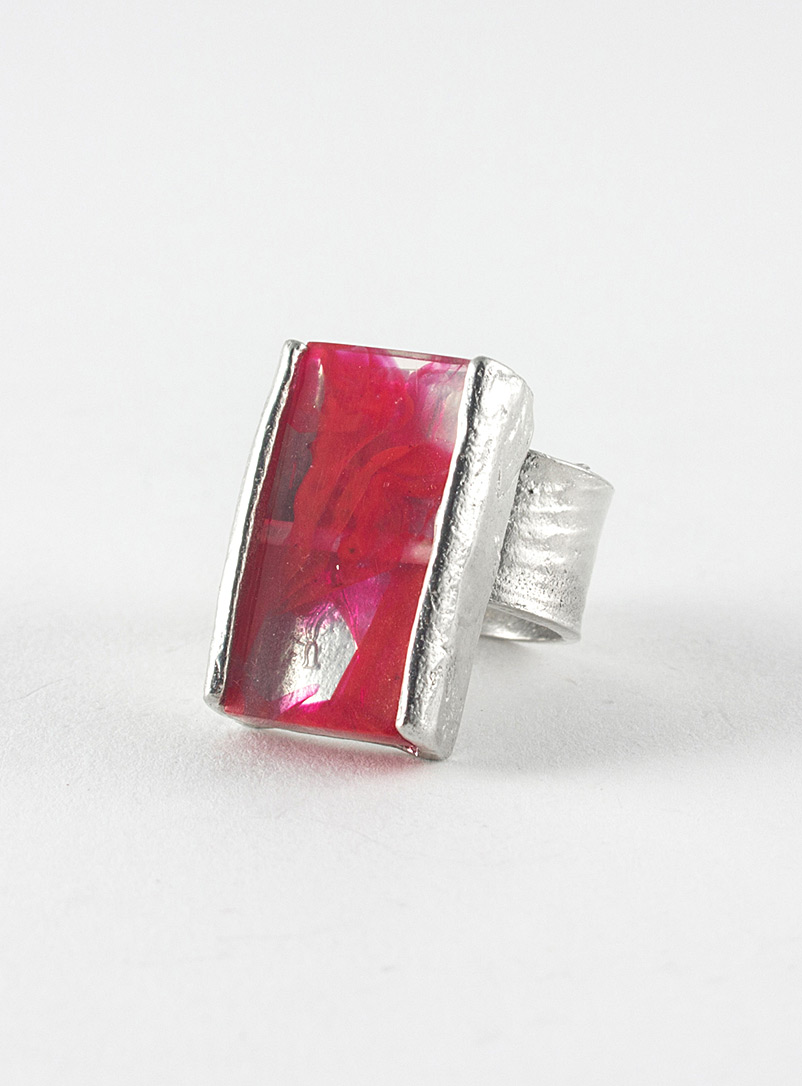 Prudence ring - Anne-Marie Chagnon - Bright Red
