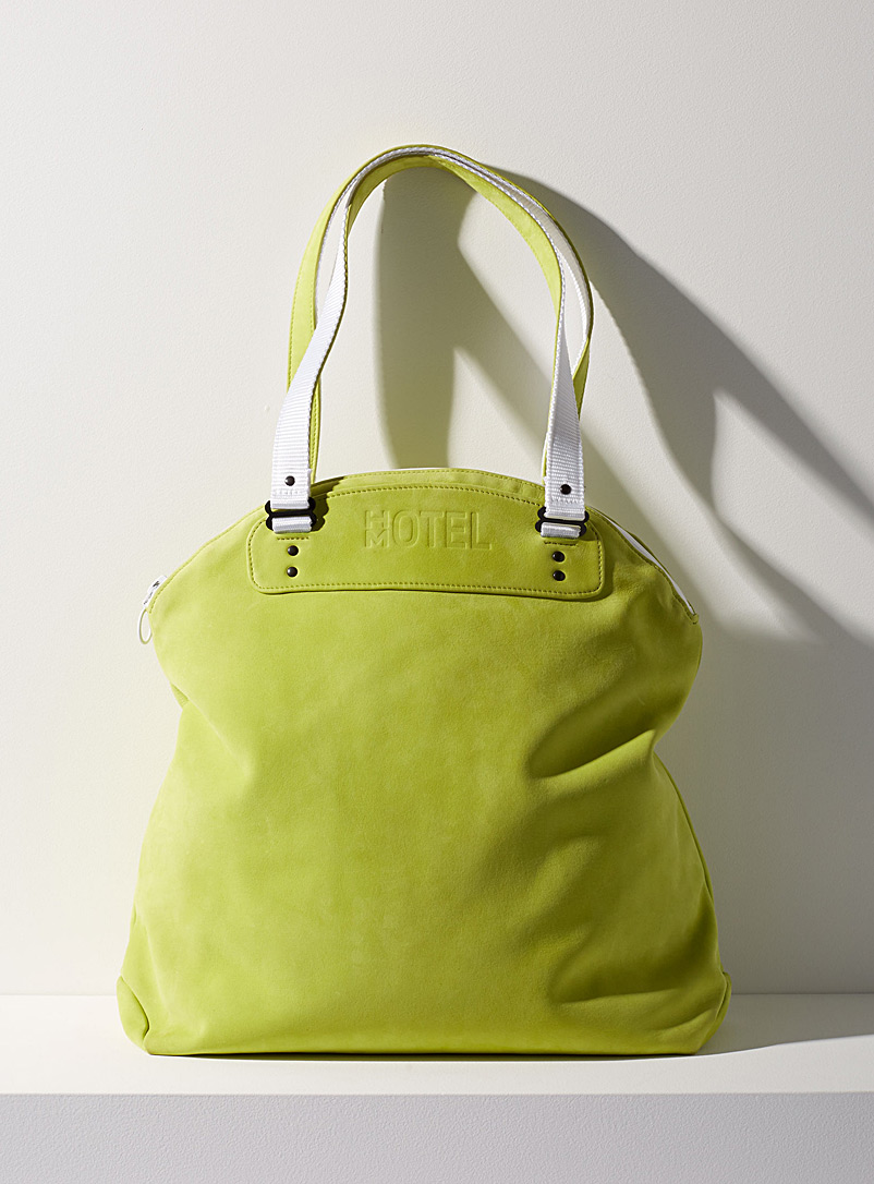 Continental tote bag - HOTELMOTEL - Lime Green