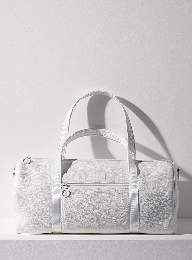 HotelMotel White Super 8 weekender bag