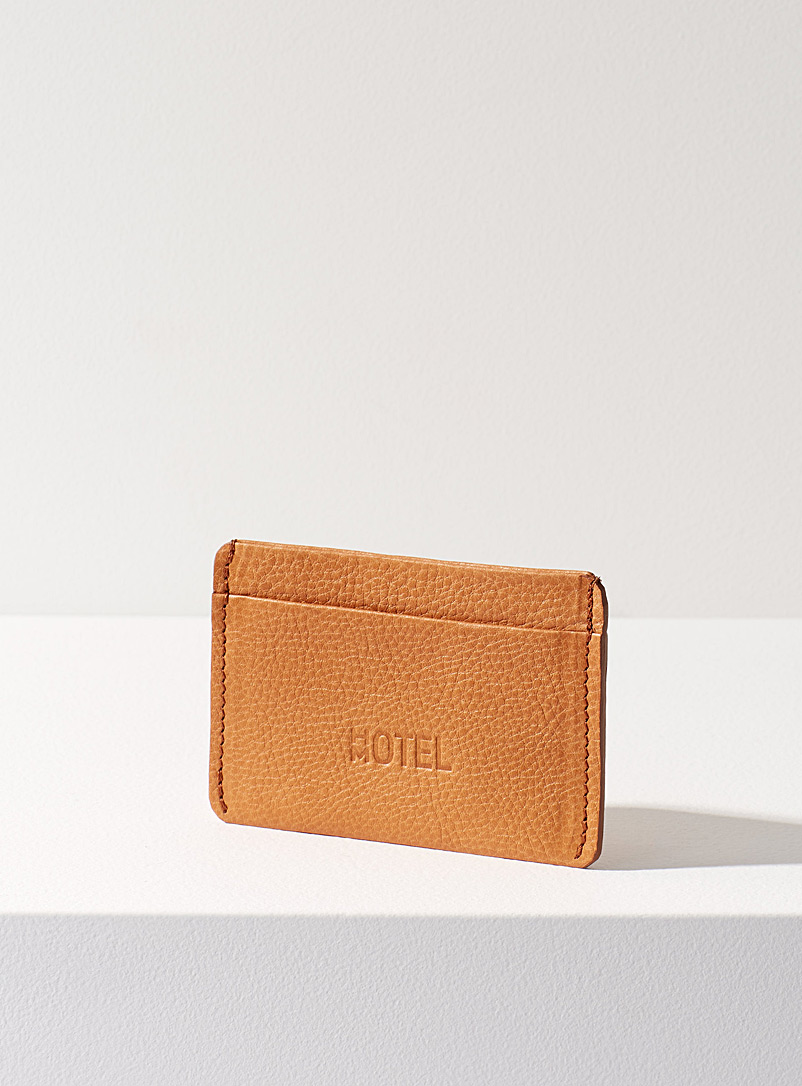 HotelMotel Honey Minimalist leather card holder