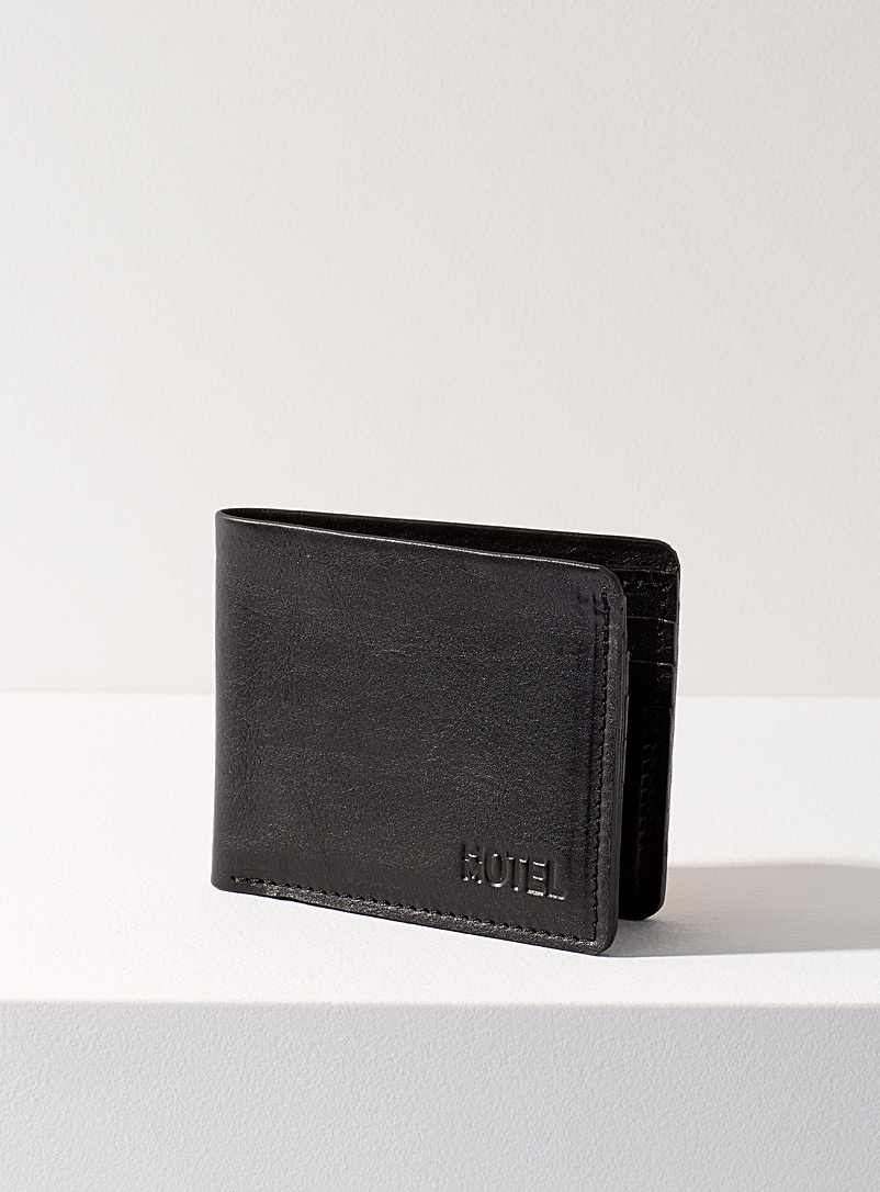 HotelMotel Black Minimalist leather wallet
