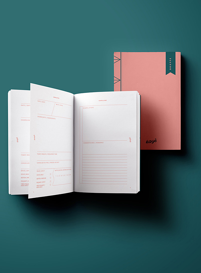 Kayé Dark Yellow Your thoughts themed notebook