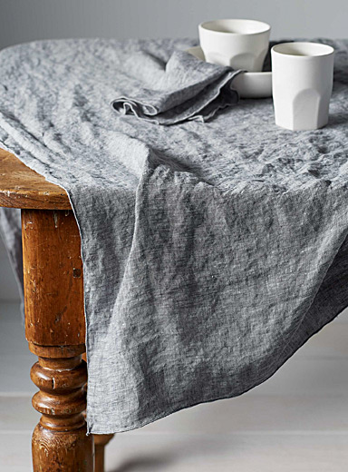 Chambray linen tablecloth