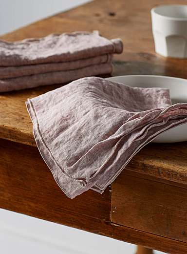 Chambray linen napkins <br>Set of 2