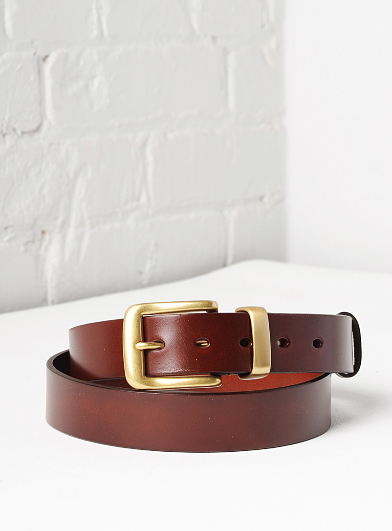 Uppdoo Brown Veneto leather belt