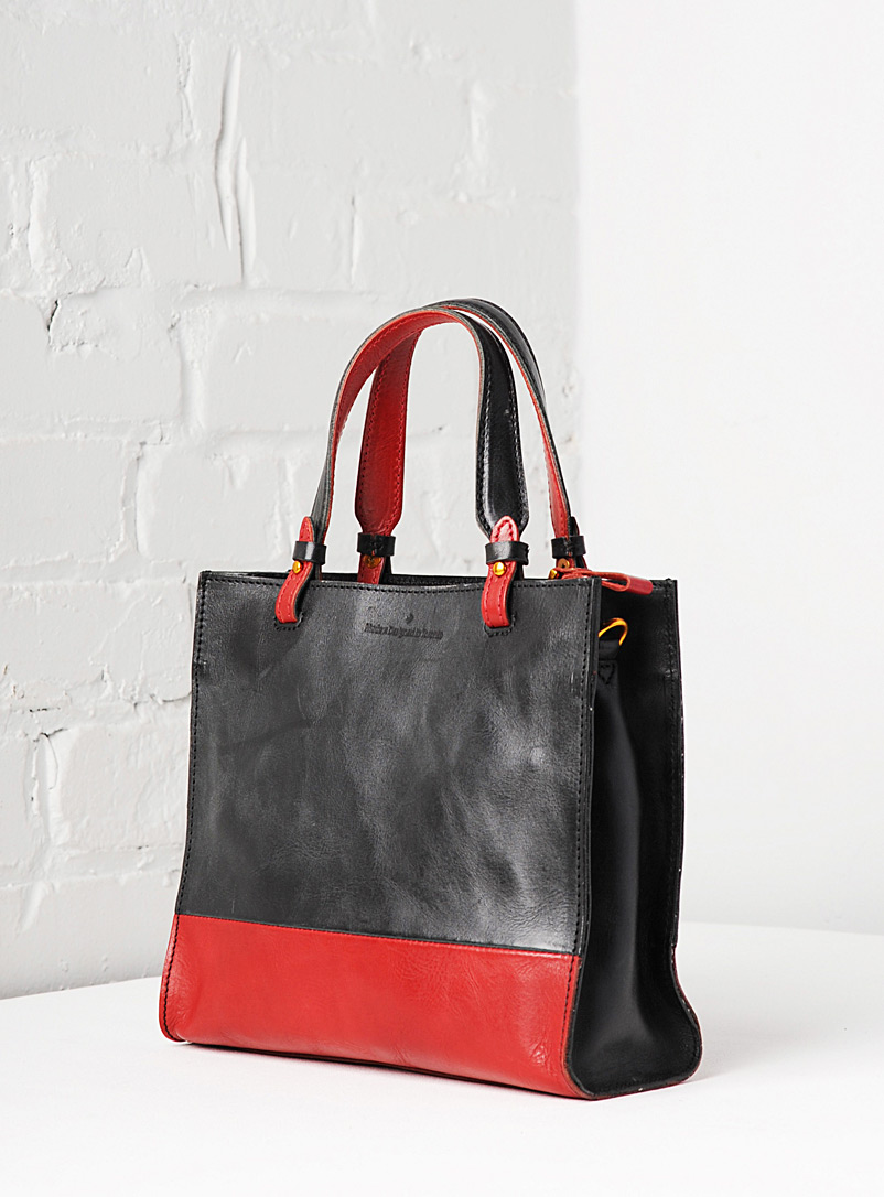 Uppdoo Black Two-tone boxy tote