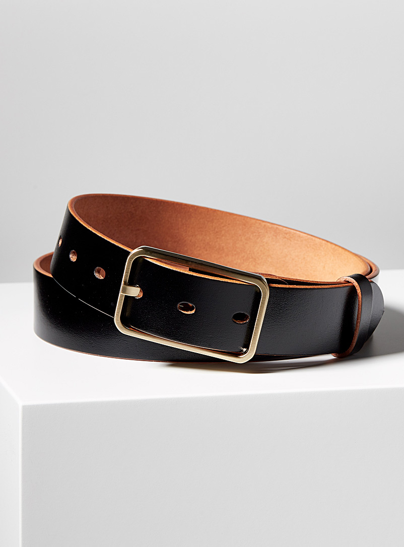 Tuscany leather belt - Uppdoo - Black