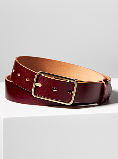 Uppdoo Burgundy Tuscany leather belt