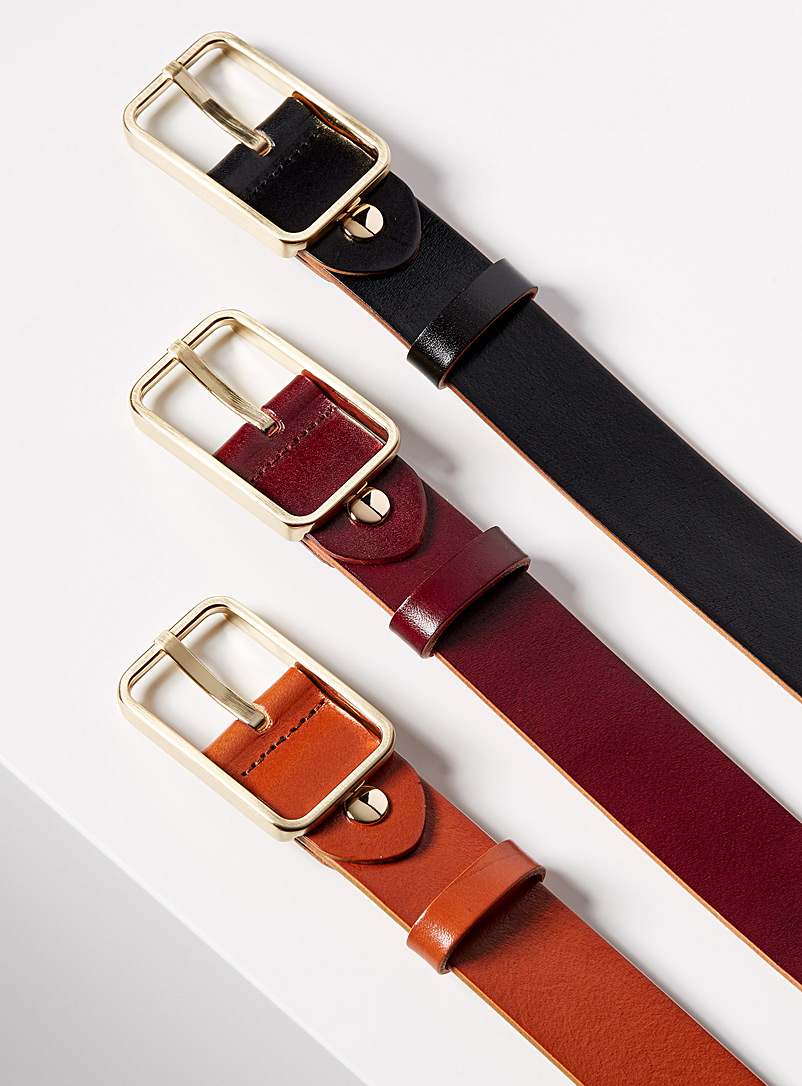 Tuscany leather belt - Uppdoo - Burgundy