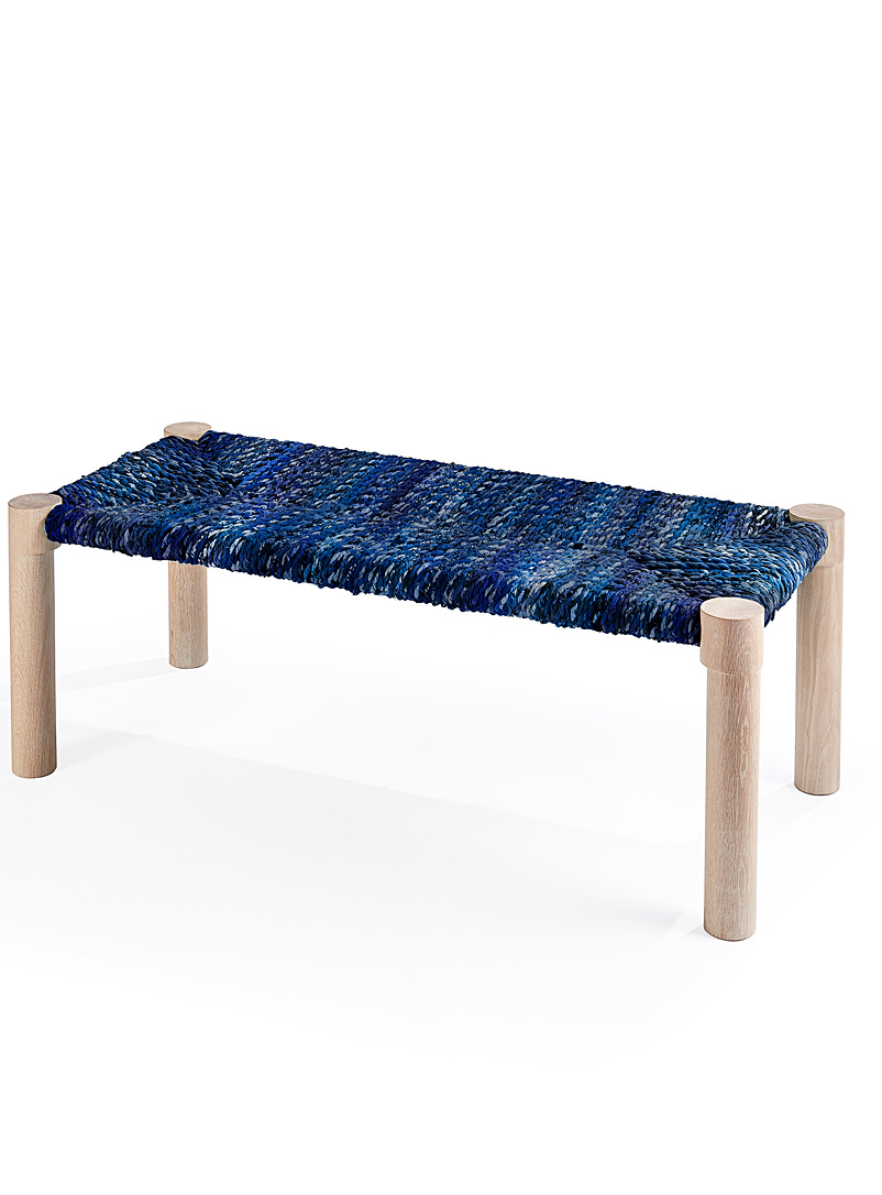 Coolican & Company Marine Blue Marrakesh bench