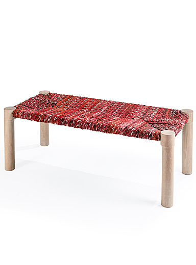 Coolican & Company Red Marrakesh bench