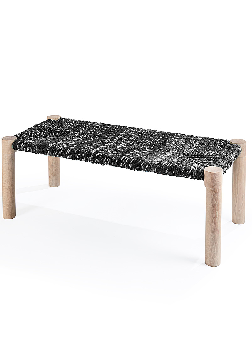 Marrakesh bench - Coolican & Company - Patterned Black