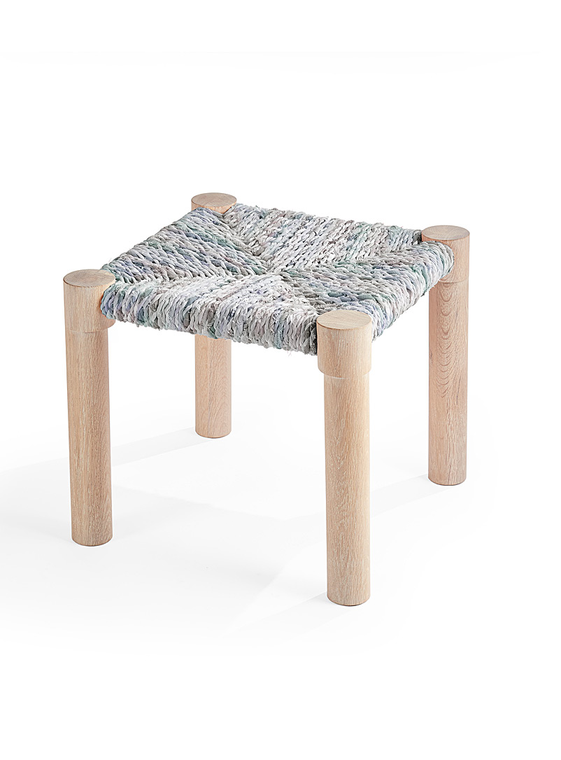 Marrakesh stool - Coolican & Company - Grey