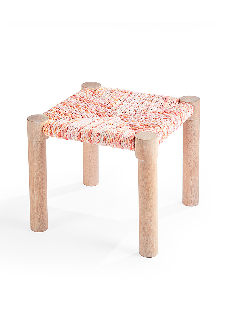 Marrakesh stool - Coolican & Company - Pink