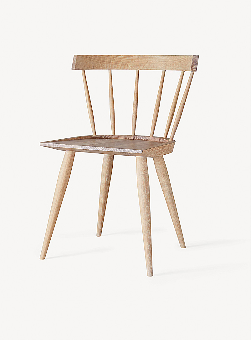 Coolican & Company Natural Oak Wood Edwin chair