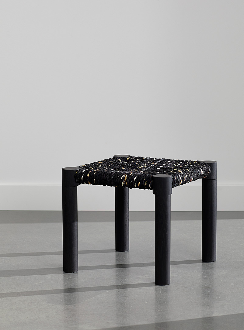 Coolican & Company Black Blackened oak Calla stool