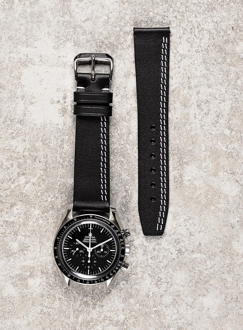 Diametris Black and White Double seam watchband