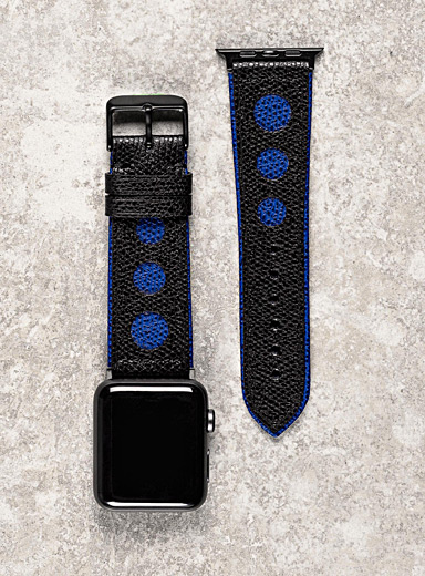 Diametris Blue Apple Watch Racing watch band