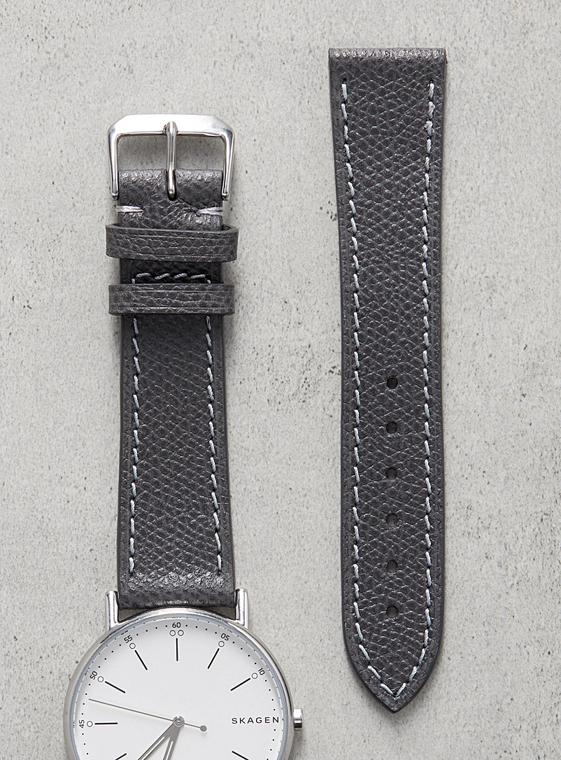 Impeccable charcoal grey watch band - Diametris - Anthracite