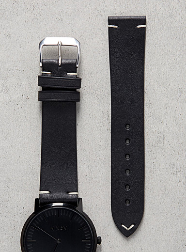 Minimal black watch band