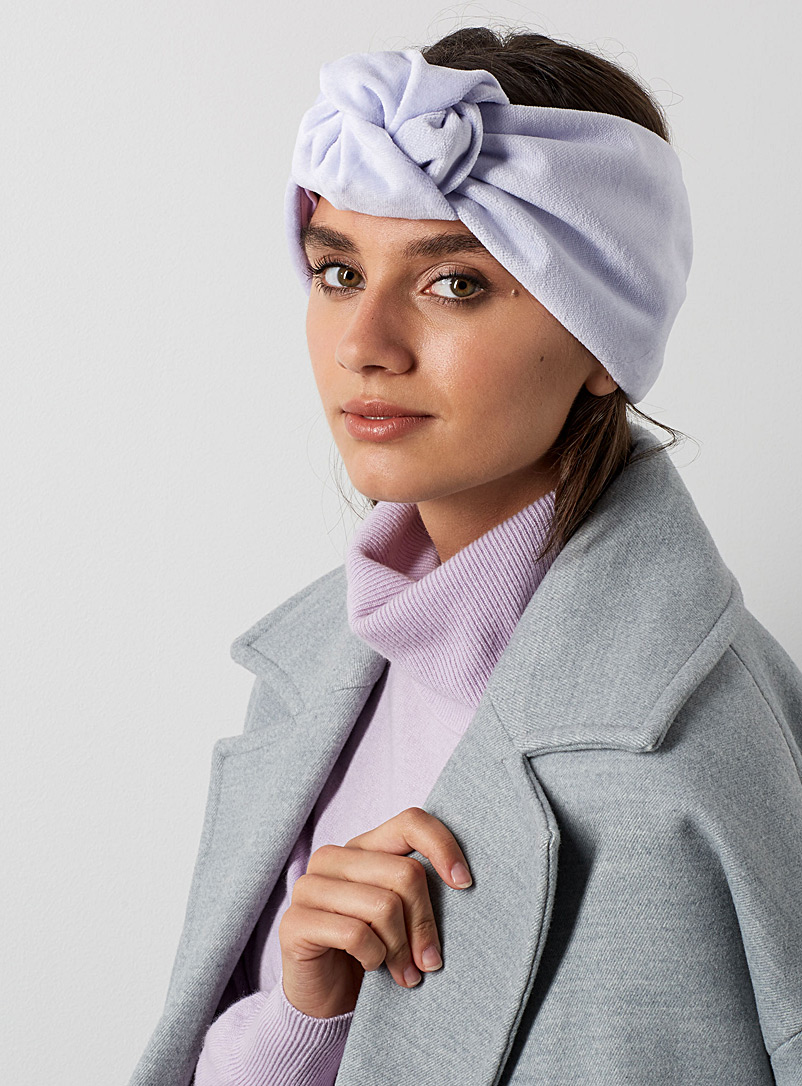 Le bandeau turban Elsa - Heirloom - Lilas
