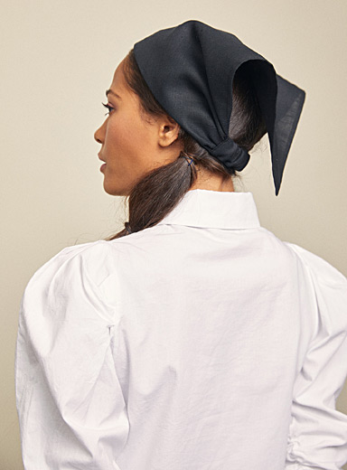 Heirloom Black Gossamer headscarf