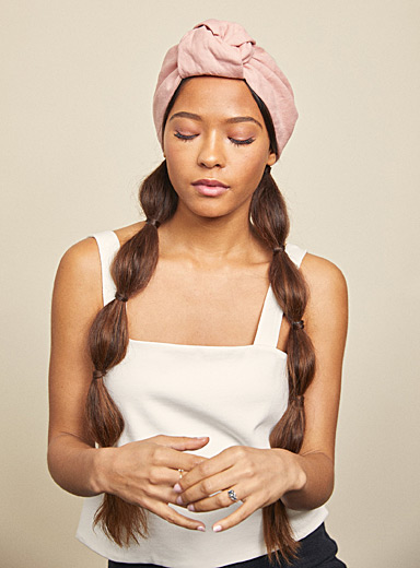 Heirloom Pink Linen Elsa turban headband