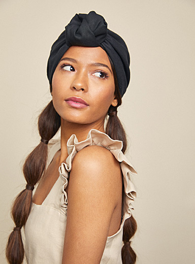 Heirloom: Le chapeau turban Parelli Noir