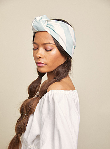 Riviera stripe Elsa turban headband