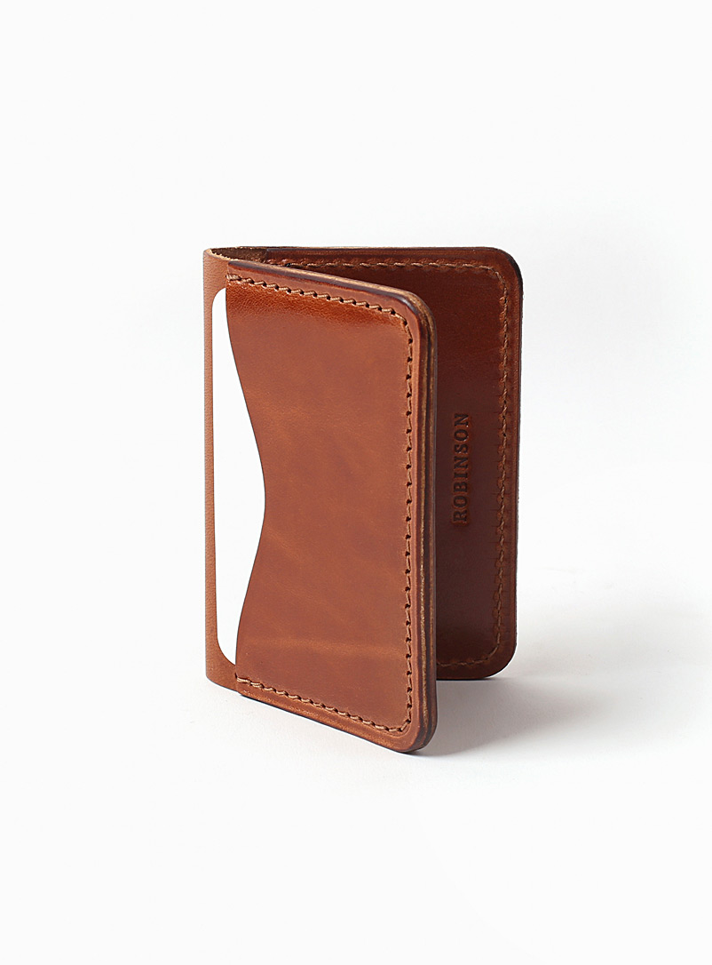 La Compagnie Robinson Brown Three-pocket card holder