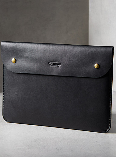 Leather computer case