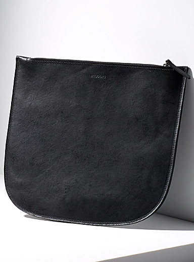 Miljours Black Platz large clutch