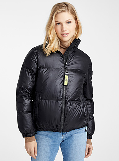 Mia recycled polyester short puffer jacket