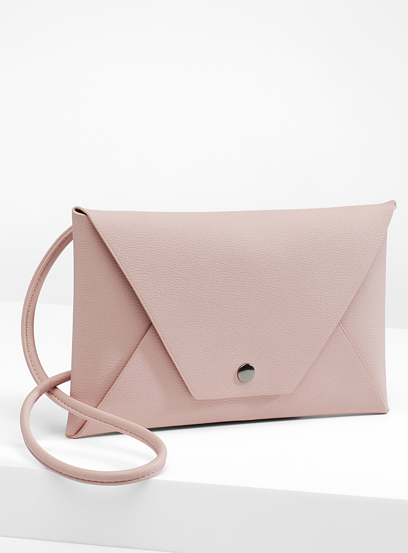 Minimalist envelope shoulder bag - Clutches and Minaudieres - Dusky Pink
