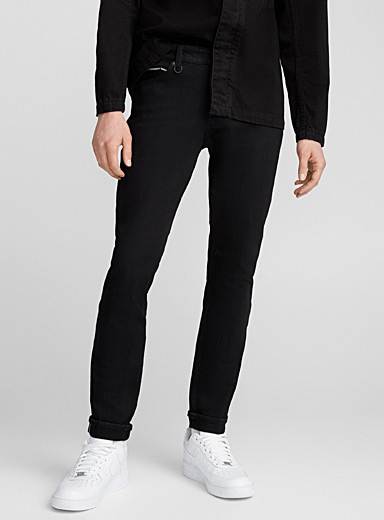 Iggy selvedge black jean <br>Skinny fit