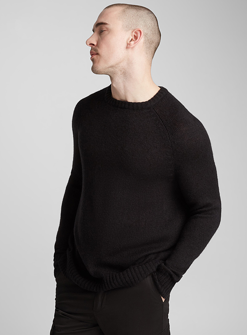 Monochrome raglan-sleeve sweater - Crew necks