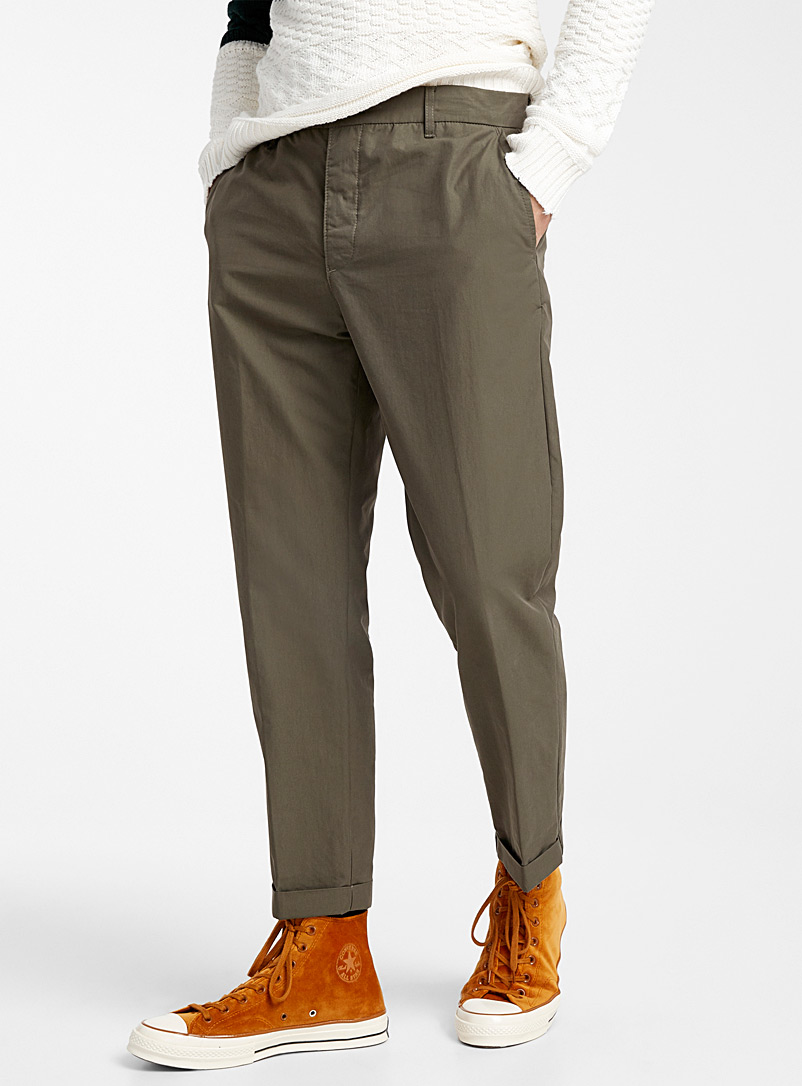 Coated cotton pant  Skinny fit - Super skinny & Skinny fit - Mossy Green