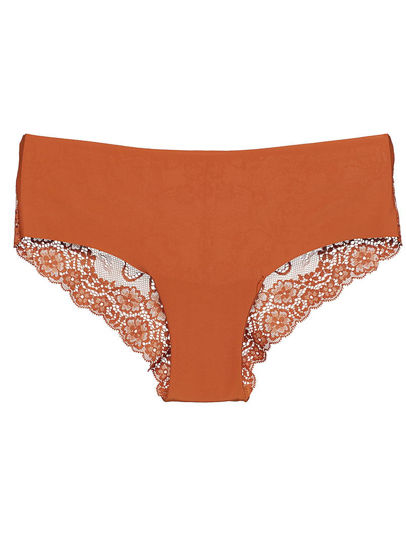Colourful laser-cut Brazilian panty