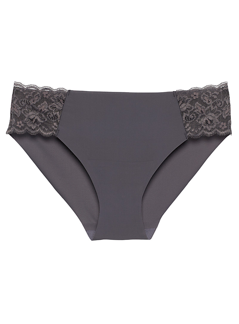 Lace and microfibre hipster
