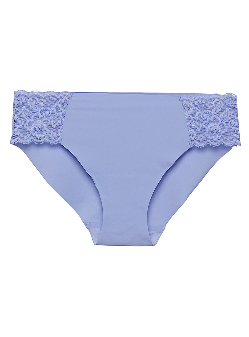 Miiyu Blue Lace and microfibre hipster for women