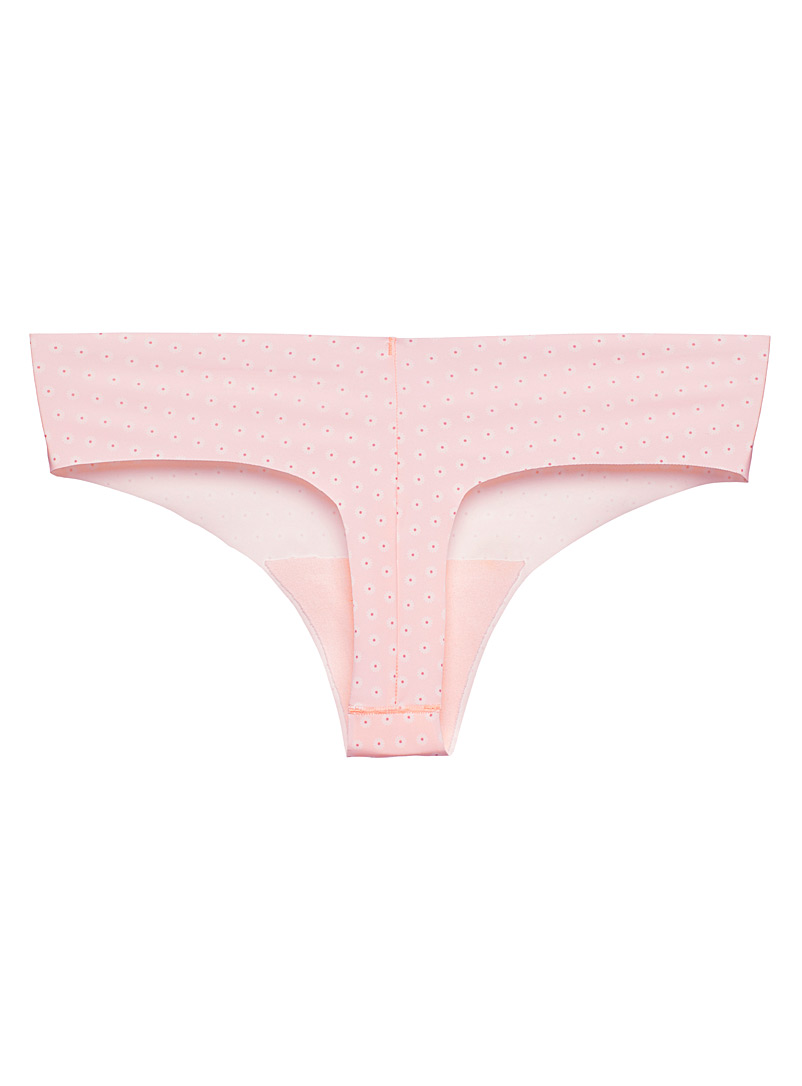 Miiyu Marine Blue Laser-cut microfibre thong for women