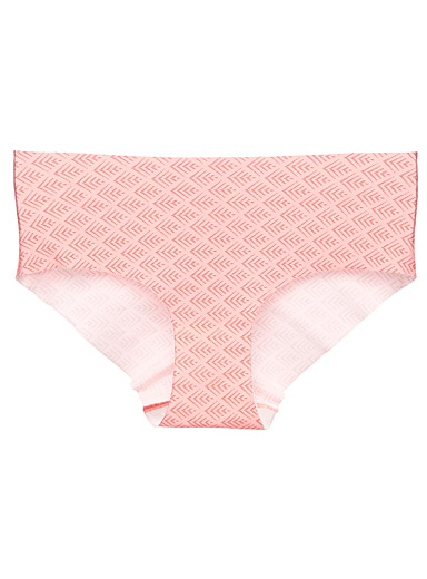 Miiyu Peach Patterned laser-cut hipster for women